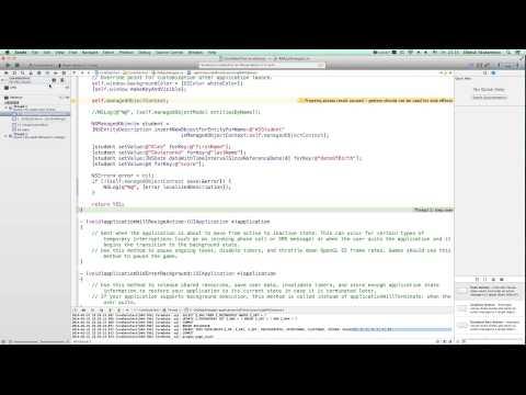 iOS Development Course Beginner - 41. CoreData Part 1 Basics
