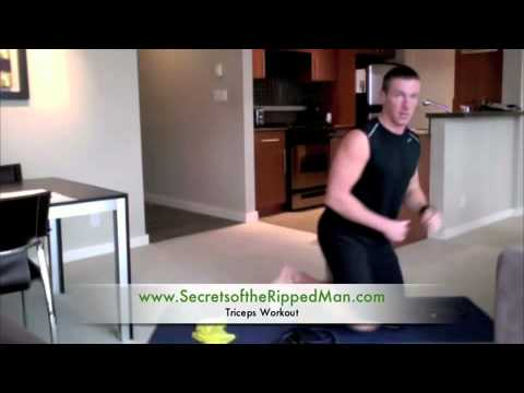 Tricep Workout Training for Men at Home