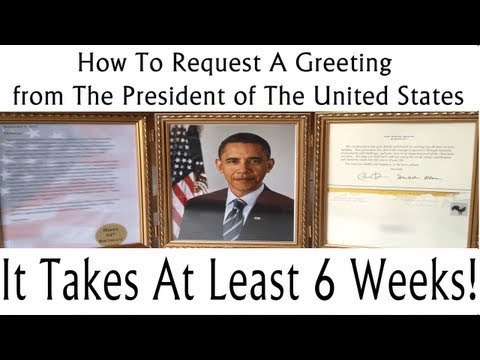 How To Request A Greeting From The POTUS [Barack OBAMA] | thecreativelady