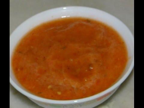 Tomato Chutney for Khaman Dhokla , Parathaas , Idli etc. easy n quick recipe Instant Tomato  Chutney