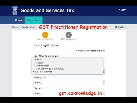 GST Practitioner Registration Procedure - Step by Step Guide