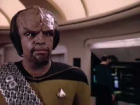 That is how the Klingon lures a mate