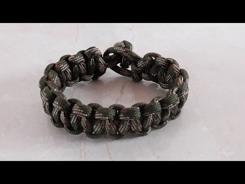 How To Tie A Single Strand Cobra Weave Paracord Bracelet Without Buckle