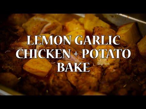 Lemon Garlic Chicken and Potato Bake