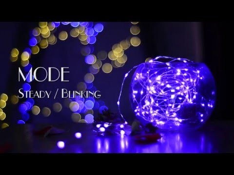 DIY Decor Tool - 100 LED Fairy Decorative Copper Wire Rope Lights Purple