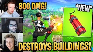 Streamers SHOCKED at First time Using *NEW* Dynamite! *BROKEN* - Fortnite Best and Funny Moments