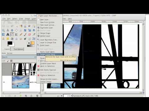 GIMP Tutorial - Changing a background with Layer Masks, or Color to Alpha - GIMP 2.6 and GIMP 2.8