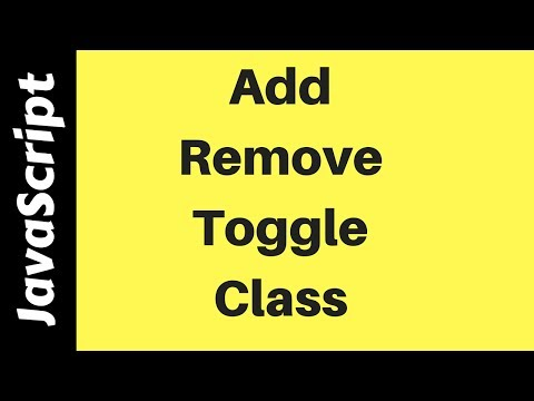 JavaScript - How To Add Remove Toggle Class In JS [ with Source code ]