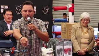 Still the peoples champ! Oscar De La Hoya gives back to the Garden Grove Boxing Club!