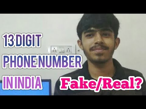 13 Digit Phone Number In India | 10 To 13 Digit Mobile Number