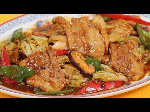 Easy Twice Cooked Pork Recipe (Sichuan-style Chinese Pork Belly Stir-Fry) | Cooking with Dog