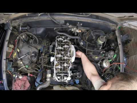 Toyota 22RE cylinder head install time lapse - Vidly xyz