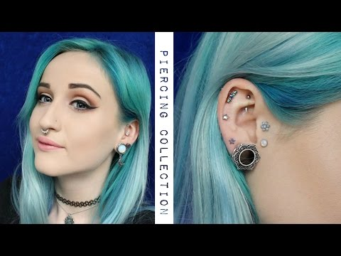 My current facial/ear piercings + Plug change!