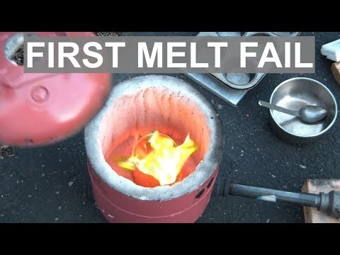 Melting Aluminum In The Helium Tank Foundry - FAIL- ELEMENTALMAKER