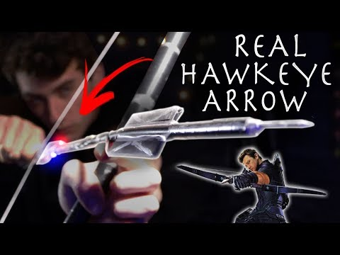 Make a Real Hawkeye Spy Arrow From Avengers Infinity War! + Cool Spy App!!!