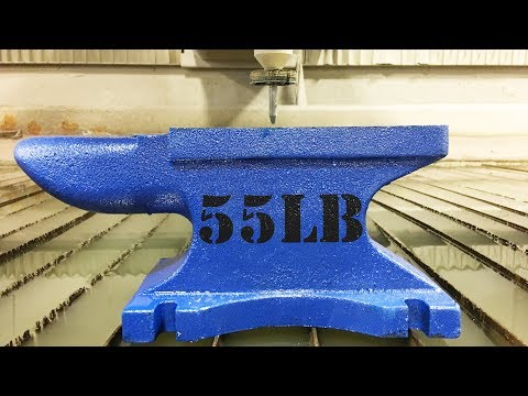 Cutting An Anvil In Half With A 60,000 PSI Waterjet -  whats inside an Anvil? - Scandal