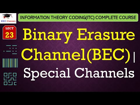 Special Channels – Binary Erasure Channel(BEC) with solved example(ITC Lectures Hindi)