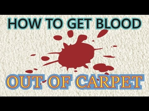 How to get Blood out of Carpet |How To Remove Dried Blood Stains From Carpet