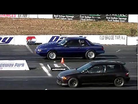 AMERICAN MUSCLE CARS vs IMPORT TUNER CARS DRAG RACING