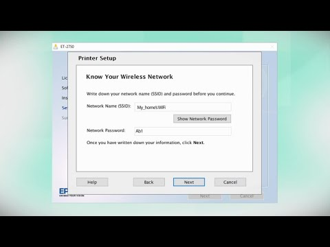Epson Expression ET-2750 | Wireless Setup Using the Control Panel