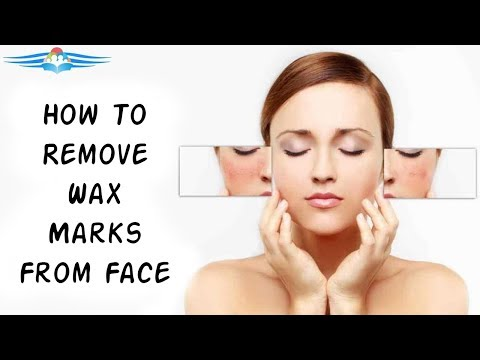 How To Remove Wax Marks From Face