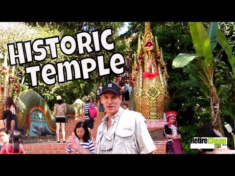 Visiting Historic Wat Phrathat Doi Suthep -- Chiang Mai