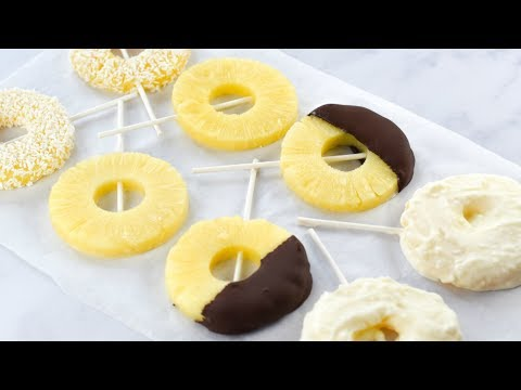 Frozen Pineapple Ring Ice Pops Recipe