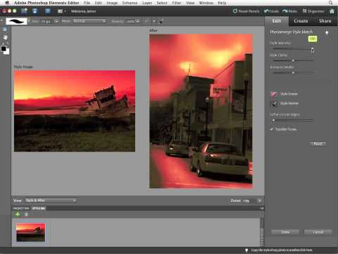 InfiniteSkills Tutorial   Photoshop Elements 10 Training - Creating a Photomerge Style Match