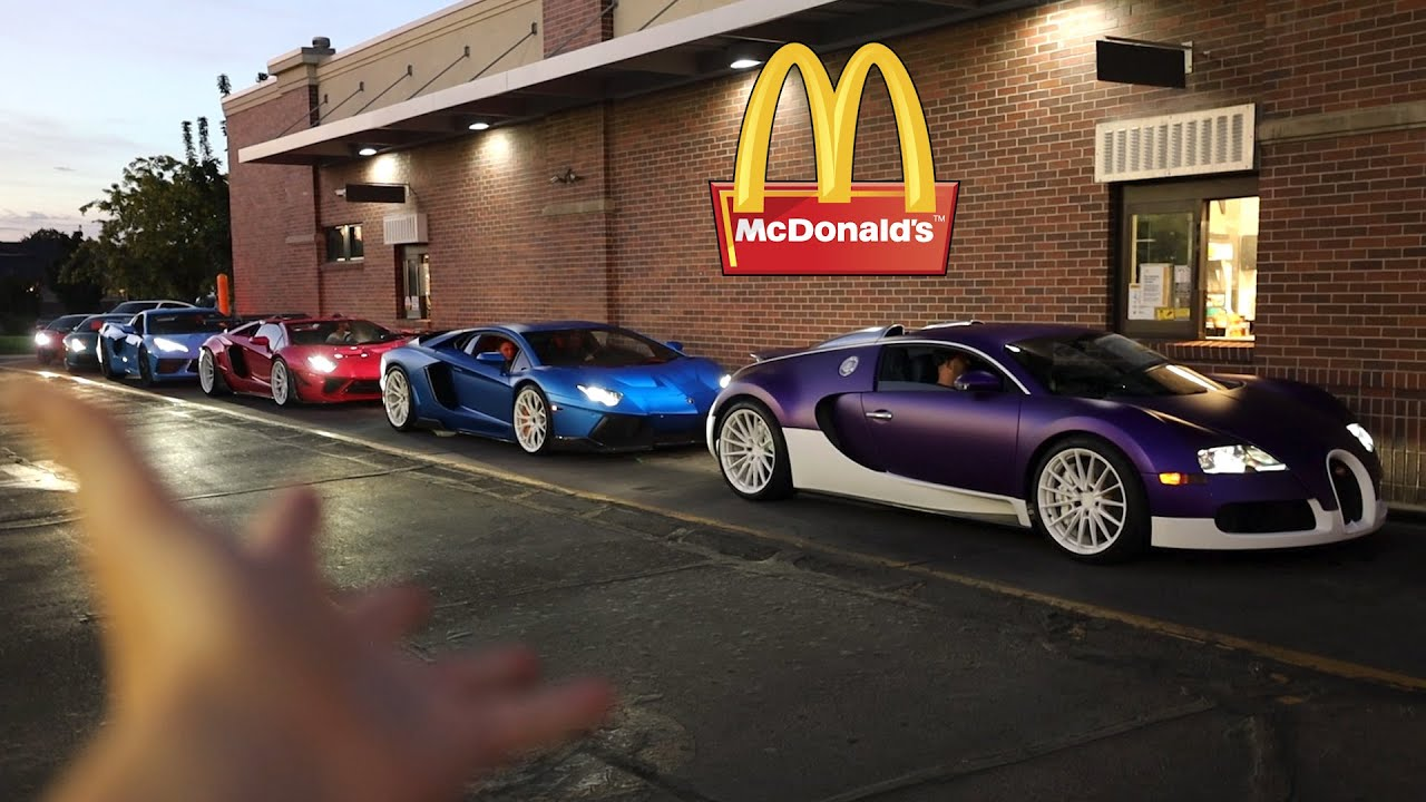 Taking my Supercar Collection to McDonalds