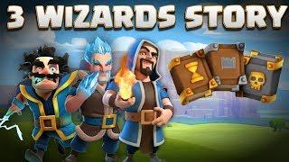 3 Wizards Story - Electro Wiz, Ice Wizard, Regular Wiz & Grand Warden Origin | Clash of Clans Story