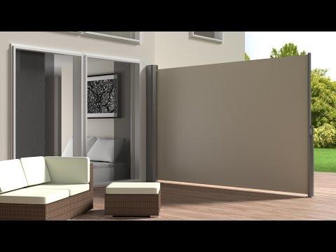 TecTake - Garden side awning sunshade retractable aluminium