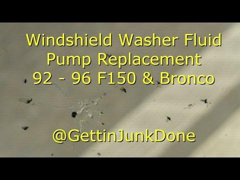 Replacing Windshield Washer Fluid Pump: 92 - 96 F150 & Bronco @GettinJunkDone