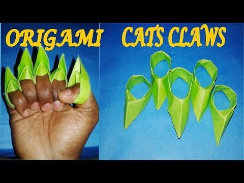 ► How to make a paper Cat's Claws || Origami Spiked Knuckles | Make Easy Step By Step | nTc Tricks