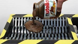 Experiment Shredding Nutella Satisfying | The Crusher