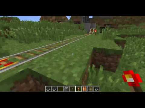 Minecraft - Powered Rail and Minecart Basic Track Setup