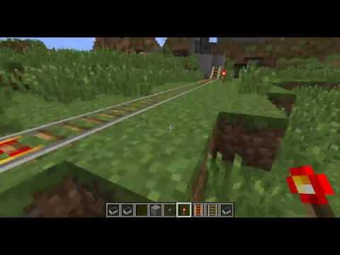Minecraft - Powered Rail and Minecart Basic Track Setup