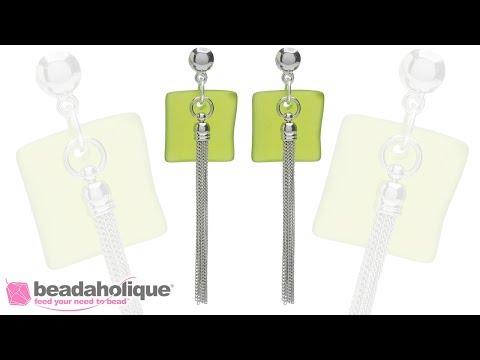 Quick & Easy DIY Jewelry  Key Lime Sea Glass Earrings