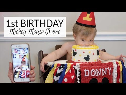 How To Make A Mickey Mouse 1st Birthday Cake