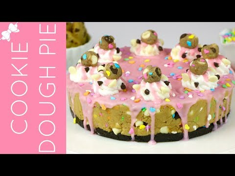 How To Make No-Bake Funfetti Cake Batter Cookie Dough Pie // Lindsay Ann Bakes