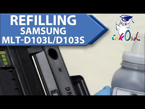 How to Refill SAMSUNG MLT-D103L, MLT-D103S (103 series) Toner Cartridges