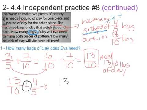 Solving Multistep Problems with Fractions and Mixed Numbers