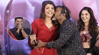 Chota K Naidu Kisses Kajal @ Kavacham Teaser Launch | Manastars