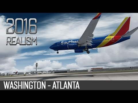 [P3Dv3] Boeing 737-700 | Southwest Airlines | Washington - Atlanta