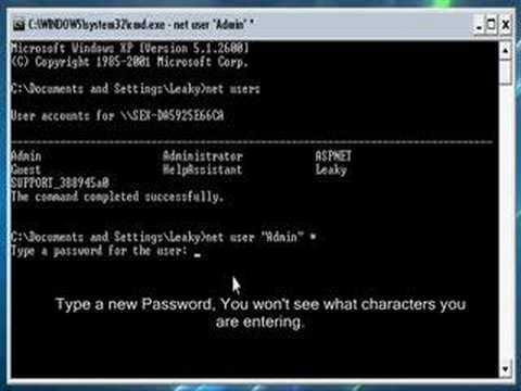 Minute Mod: Change PC Password