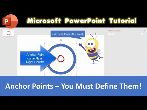 How to Define an Anchor Point in Microsoft PowerPoint 2016 | The Teacher
