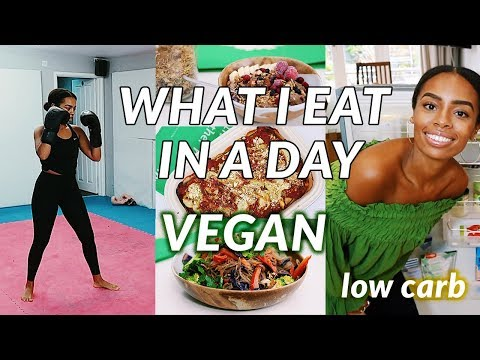 What I Eat In A Day LOW CARB   easy vegan recipes & TRAINING