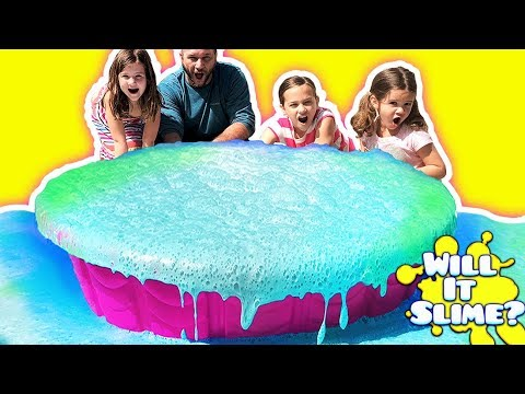 MELTING 100 POUNDS OF SLIME WITH VINEGAR IN A POOL! Don't miss the surprise ending!