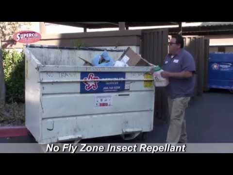 No Fly Zone Insect Repellant for Dumpsters & Trash Bins