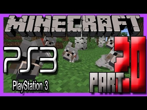 Minecraft Ps3 (Playstation 3) Edition Gameplay Part 20 - THE CUTE BABY WOLF