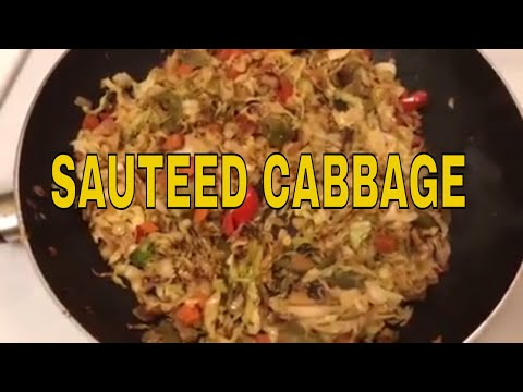 Sautéed Cabbage ~ Low Carb and Gluten Free ~ One Skillet